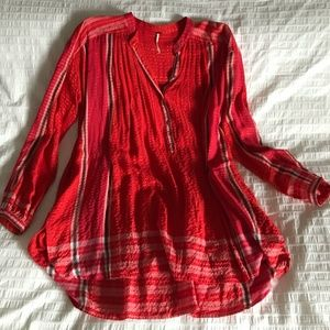 Free People Red Tunic
